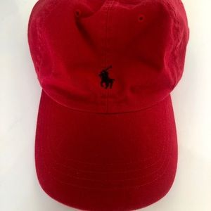 Red and Navy Polo Hat